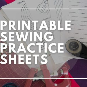 Sewing practice pages to download and print at home for beginners