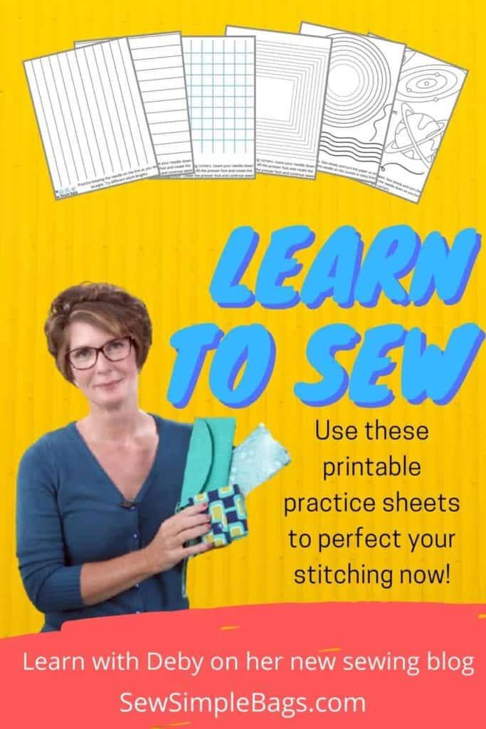 Sewing practice sheets. Printable PDF pages to print at home for kids and beginner sewers. How to perfect your stitching with printable sewing practice sheets. No need to use thread, the needle pierces the paper on these print at home sheets for learning to sew. Printable sewing worksheets for beginners.