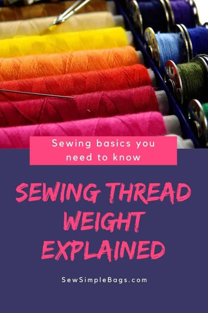 Everything you need to know about thread weight. What is sewing thread weight and why is it important? What do the two numbers mean on the spool of sewing thread? What does sewing thread weight mean and how do I know if the thread is thick or thin?