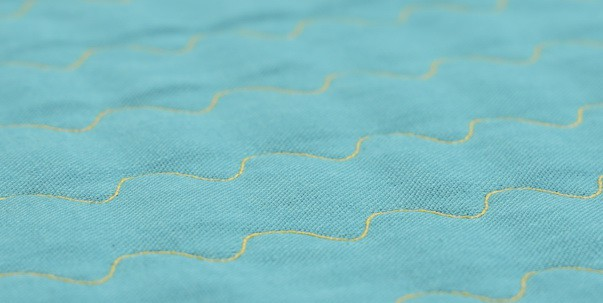 Serpentine stitch, ideal for using to make quilted fabric