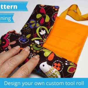 How to design your own sewing pattern for a custom tool roll